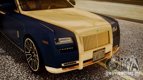 Rolls-Royce Ghost Mansory v2 для GTA San Andreas вид сзади