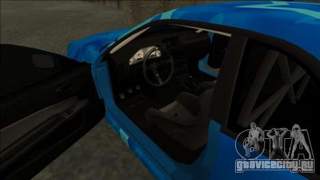 Nissan Skyline R34 Drift Blue Star для GTA San Andreas вид справа