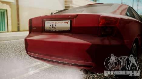 Toyota Celica SS2 Tunable для GTA San Andreas вид сзади