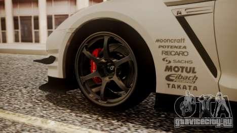 Nissan GT-R R35 2012 v2 для GTA San Andreas вид сзади слева