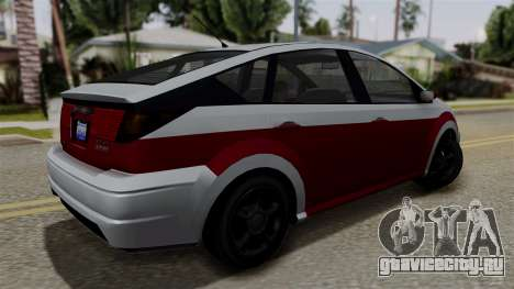 Deckers Solar (Dilettante) from SR3 для GTA San Andreas вид слева