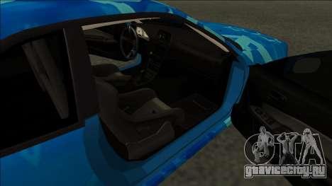 Nissan Skyline R34 Drift Blue Star для GTA San Andreas вид сзади слева