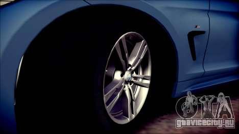 BMW 4 Series Coupe M Sport для GTA San Andreas вид сбоку
