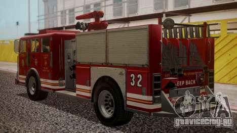 GTA 5 MTL Firetruck для GTA San Andreas вид слева