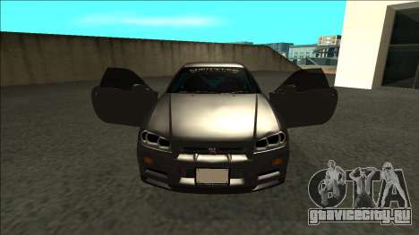 Nissan Skyline R34 Drift Monster Energy для GTA San Andreas вид изнутри