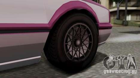 GTA 5 Albany Primo для GTA San Andreas вид сзади слева