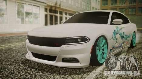 Dodge Charger RT 2015 Hatsune Miku для GTA San Andreas вид изнутри