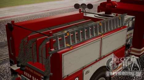 GTA 5 MTL Firetruck для GTA San Andreas вид справа