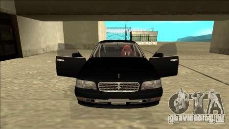 Nissan Cedric Drift для GTA San Andreas вид изнутри