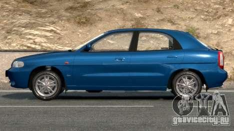 Daewoo Nubira I Hatchback CDX 1997 для GTA 4 вид сбоку