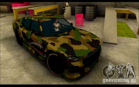 Bravado Buffalo Camo Shark Mouth для GTA San Andreas