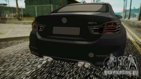 BMW M4 Coupe 2015 Carbon для GTA San Andreas вид сзади