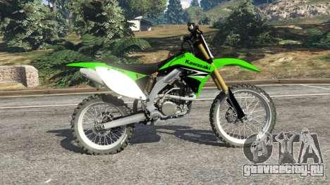 Kawasaki KX450F для GTA 5 вид слева
