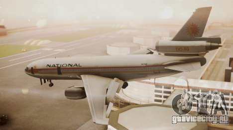 DC-10-10 National Airlines для GTA San Andreas вид слева