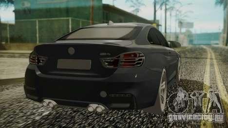 BMW M4 Coupe 2015 Carbon для GTA San Andreas вид слева