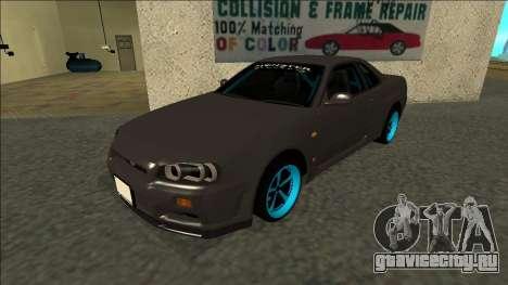Nissan Skyline R34 Drift Monster Energy для GTA San Andreas
