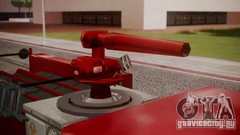 GTA 5 MTL Firetruck для GTA San Andreas вид сзади