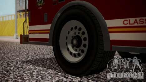 GTA 5 MTL Firetruck для GTA San Andreas вид сзади слева