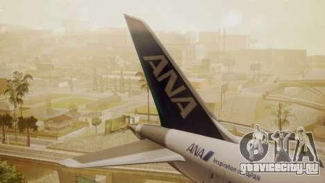 Boeing 787-9 ANA R2D2 для GTA San Andreas вид сзади слева