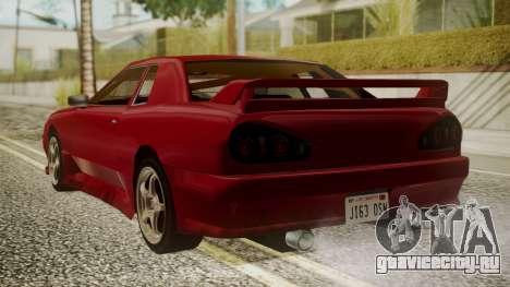 Elegy NR32 with Neon для GTA San Andreas вид слева