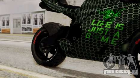 Bati Motorcycle Razer Gaming Edition для GTA San Andreas вид справа