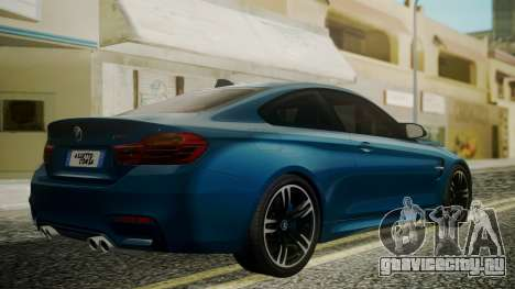 BMW M4 Coupe 2015 Brushed Aluminium для GTA San Andreas вид слева