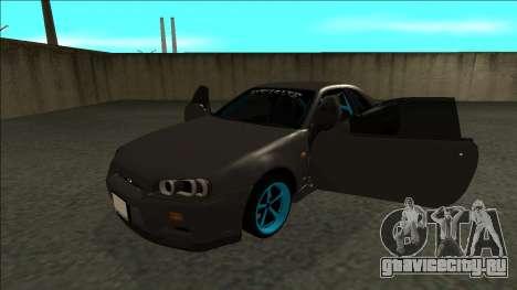 Nissan Skyline R34 Drift Monster Energy для GTA San Andreas вид сзади