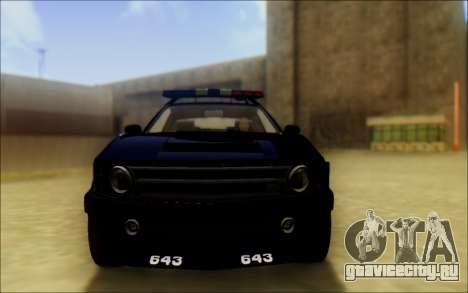 Бессодержательный Доминатор Трансформаторы Полиц для GTA San Andreas вид сзади