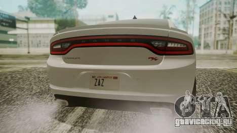 Dodge Charger RT 2015 Hatsune Miku для GTA San Andreas вид сзади