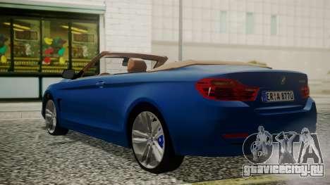 BMW M4 F32 Convertible 2014 для GTA San Andreas вид слева