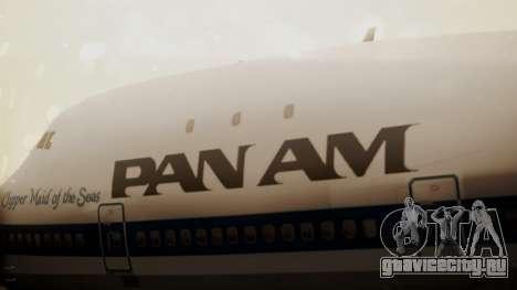 Boeing 747-100 Pan Am Clipper Maid of the Seas для GTA San Andreas вид сзади