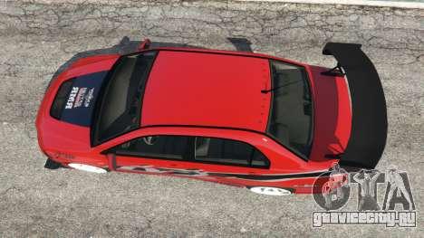 Mitsubishi Lancer Evolution IX FNF для GTA 5 вид сзади