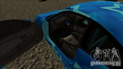 Toyota MR2 Drift Blue Star для GTA San Andreas вид справа