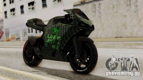 Bati Motorcycle Razer Gaming Edition для GTA San Andreas