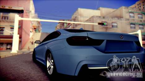BMW 4 Series Coupe M Sport для GTA San Andreas вид сзади слева