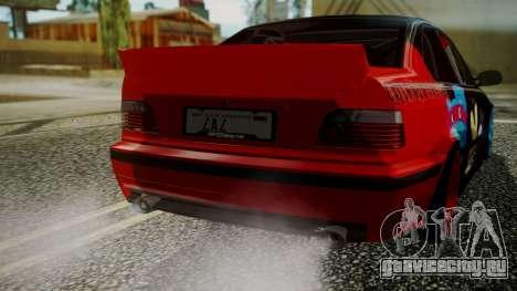 BMW M3 E36 Happy Drift Friends для GTA San Andreas вид сзади