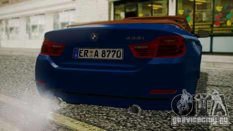 BMW M4 F32 Convertible 2014 для GTA San Andreas вид справа