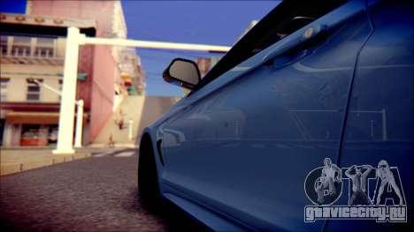 BMW 4 Series Coupe M Sport для GTA San Andreas вид изнутри