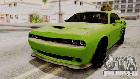 Dodge Challenger SRT Hellcat 2015 IVF для GTA San Andreas колёса