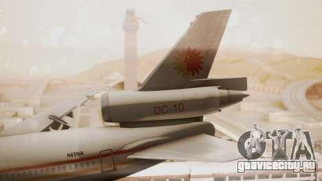 DC-10-10 National Airlines для GTA San Andreas вид сзади слева