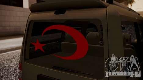Ford Connect для GTA San Andreas вид сзади