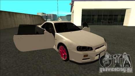 Nissan Skyline R34 Drift JDM для GTA San Andreas вид сбоку