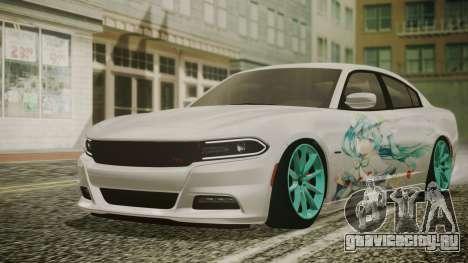 Dodge Charger RT 2015 Hatsune Miku для GTA San Andreas