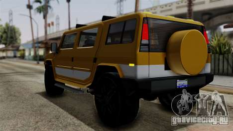 Luchadores Bulldog (Patriot) from SR3 для GTA San Andreas вид слева