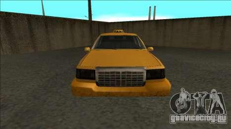 Stretch Sedan Taxi для GTA San Andreas вид справа