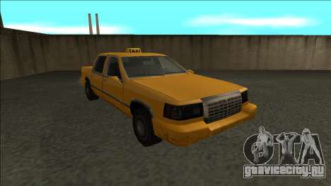 Stretch Sedan Taxi для GTA San Andreas вид сзади
