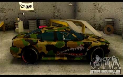 Bravado Buffalo Camo Shark Mouth для GTA San Andreas вид слева