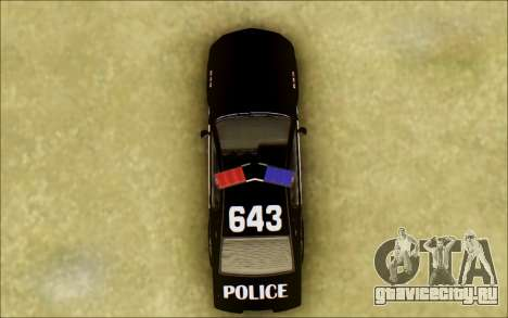 Бессодержательный Доминатор Трансформаторы Полиц для GTA San Andreas вид изнутри