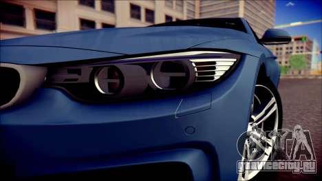 BMW 4 Series Coupe M Sport для GTA San Andreas вид справа