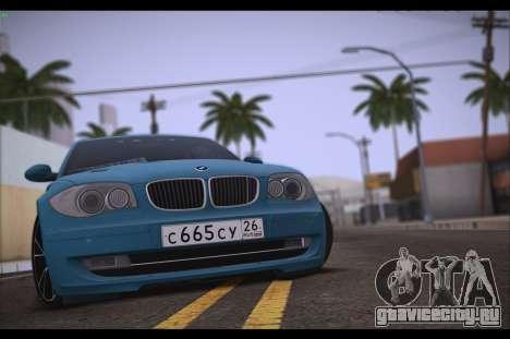 BMW 118i для GTA San Andreas вид справа